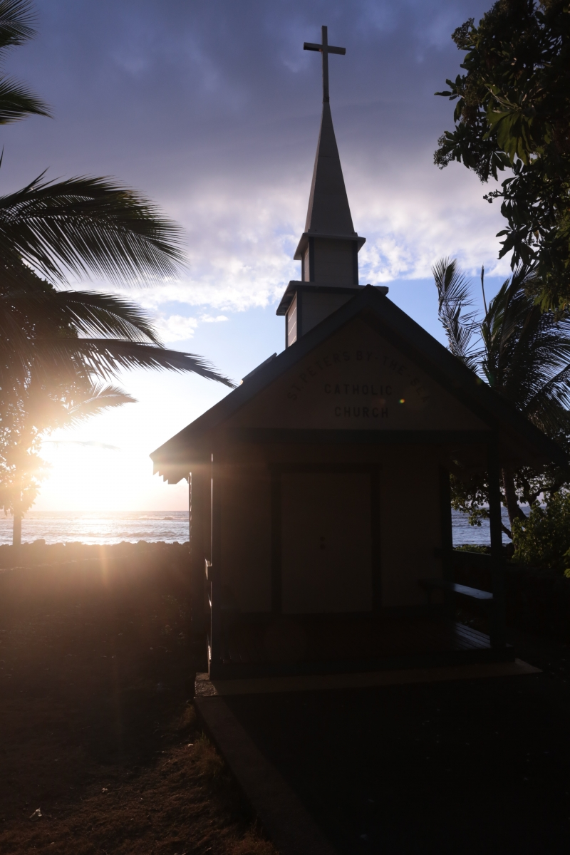 Kona Church at Sunset